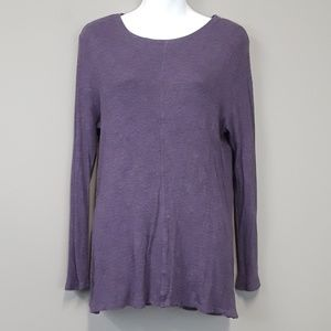 LOFT purple lounge knit top size XL
